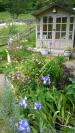 Summerhouse and Spring flowers